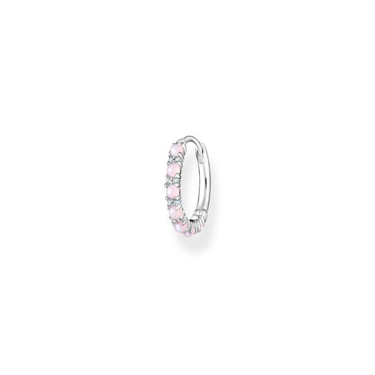 Single hoop earring pink stones from the Charming Collection collection in the THOMAS SABO online store