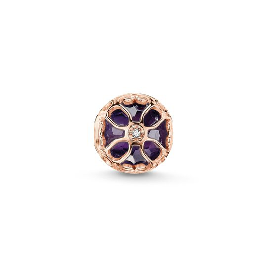 Bead flor de loto malva de la colección Karma Beads en la tienda online de THOMAS SABO