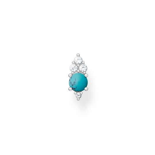 Clou d'oreille unique pierre turquoise de la collection Charming Collection dans la boutique en ligne de THOMAS SABO