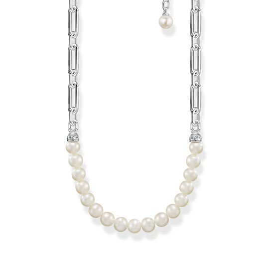 Necklace links and pearls silver from the  collection in the THOMAS SABO online store