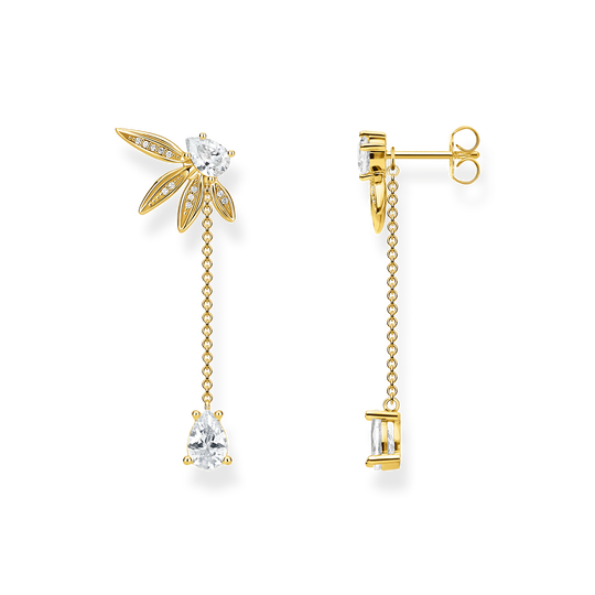 earrings leaves with chain large gold from the Glam & Soul collection in the THOMAS SABO online store
