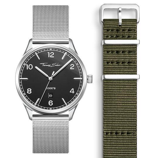 SET CODE TS montre noir et bracelet kaki de la collection  dans la boutique en ligne de THOMAS SABO