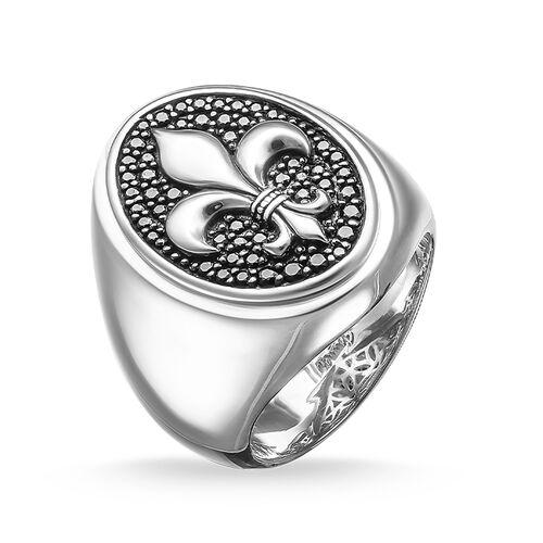 """chevalière """"fleur de lys"""" de la collection Rebel at heart dans la boutique en ligne de THOMAS SABO"""