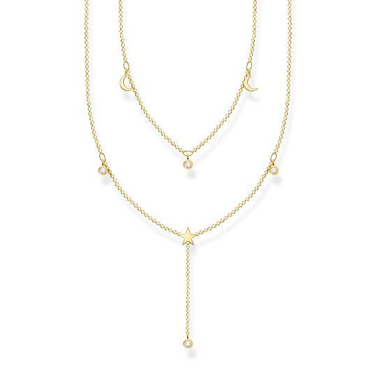 Kette doppel weiße Steine gold aus der Charming Collection Kollektion im Online Shop von THOMAS SABO