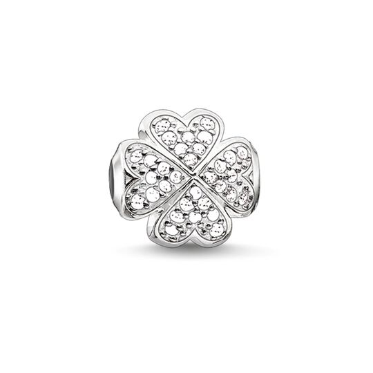Bead white cloverleaf from the Karma Beads collection in the THOMAS SABO online store