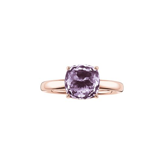 solitair ring purple from the  collection in the THOMAS SABO online store