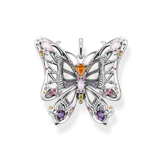 Pendant butterfly colourful stones silver from the  collection in the THOMAS SABO online store
