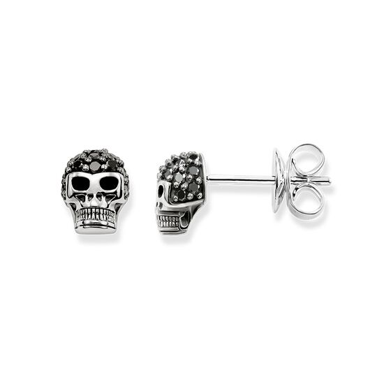 ear studs skull pavé from the Rebel at heart collection in the THOMAS SABO online store