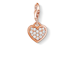 Charm pendant glitter heart from the Charm Club Collection collection in the THOMAS SABO online store