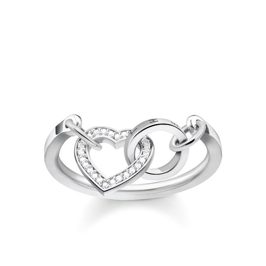 """ring """"TOGETHER Heart"""" from the Glam & Soul collection in the THOMAS SABO online store"""