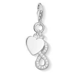 Charm pendant heart with infinity from the Charm Club Collection collection in the THOMAS SABO online store