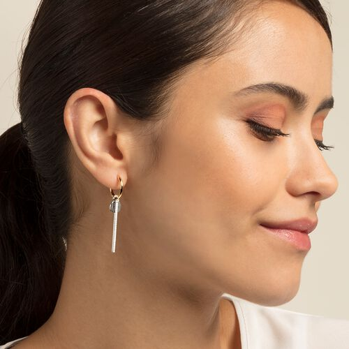 "hoop earrings ""bicolour"" from the Glam & Soul collection in the THOMAS SABO online store"