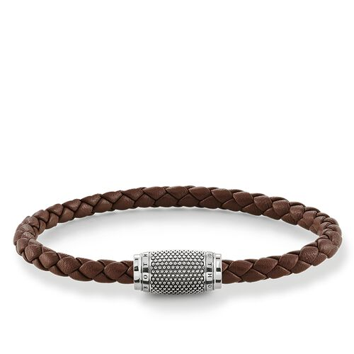 "leather strap ""brown Kathmandu"" from the Rebel at heart collection in the THOMAS SABO online store"