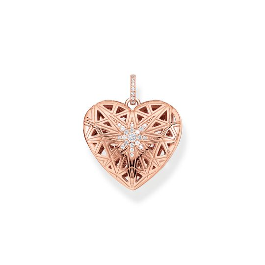 pendant heart medallion star pink from the  collection in the THOMAS SABO online store