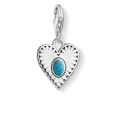 "ciondolo Charm ""cuore pietra turchese"" from the  collection in the THOMAS SABO online store"