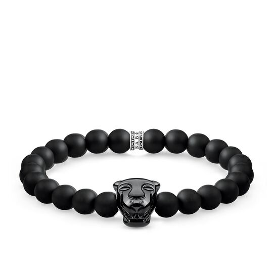 bracelet black cat onyx from the Rebel at heart collection in the THOMAS SABO online store