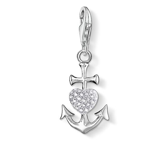 "Charm pendant ""anchor with heart"" from the  collection in the THOMAS SABO online store"