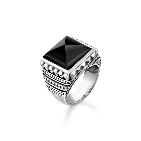 ring ethno skulls black from the  collection in the THOMAS SABO online store
