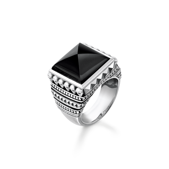 ring ethno skulls black from the Rebel at heart collection in the THOMAS SABO online store