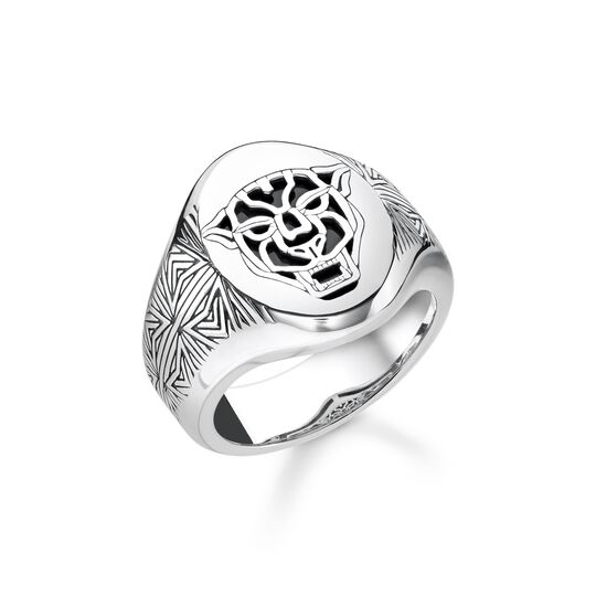ring Black Cat from the  collection in the THOMAS SABO online store
