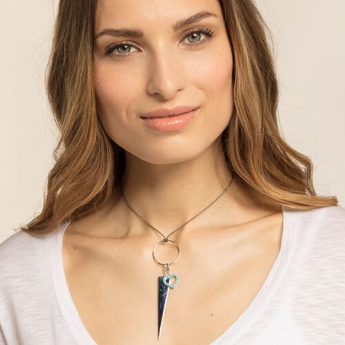 """Charm pendant """"Turquoise heart """" from the  collection in the THOMAS SABO online store"""