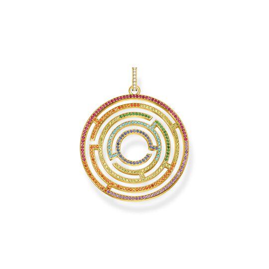 Pendentif labyrinthe pierres multicolores de la collection  dans la boutique en ligne de THOMAS SABO