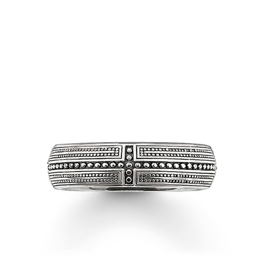 """band ring """"cross"""" from the Rebel at heart collection in the THOMAS SABO online store"""