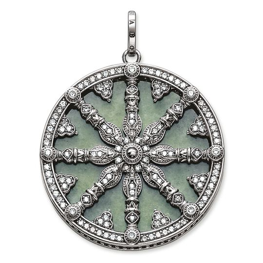pendant karma wheel with aventurin disc from the Karma Beads collection in the THOMAS SABO online store