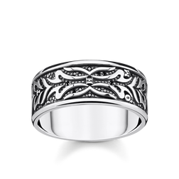 Ring Tiger Muster schwarz aus der Rebel at heart Kollektion im Online Shop von THOMAS SABO