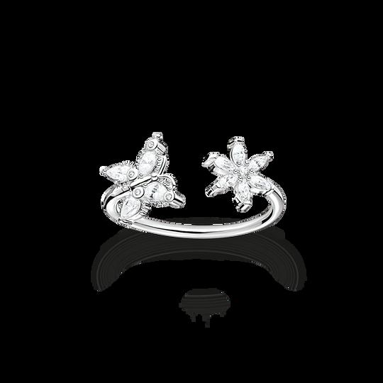 Ring fjäril med blomma vita stenar ur kollektionen Charming Collection i THOMAS SABO:s onlineshop