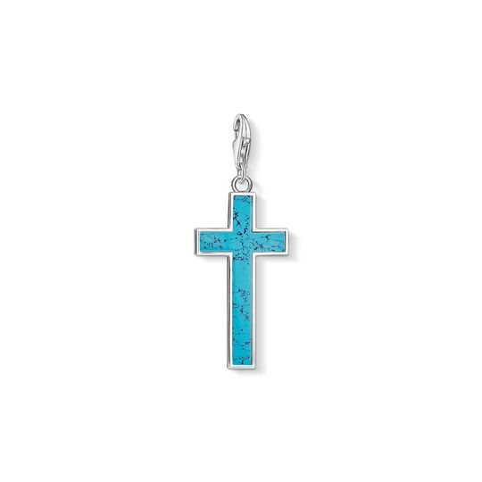 Charm pendant Turquoise cross from the Charm Club collection in the THOMAS SABO online store