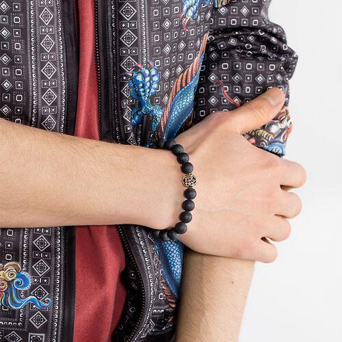 """bracelet """"fleur de lotus noire"""" de la collection Glam & Soul dans la boutique en ligne de THOMAS SABO"""