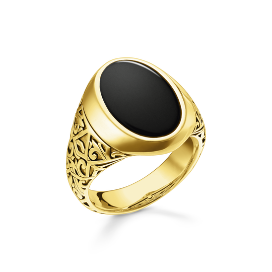 Bague noir-or de la collection Rebel at heart dans la boutique en ligne de THOMAS SABO