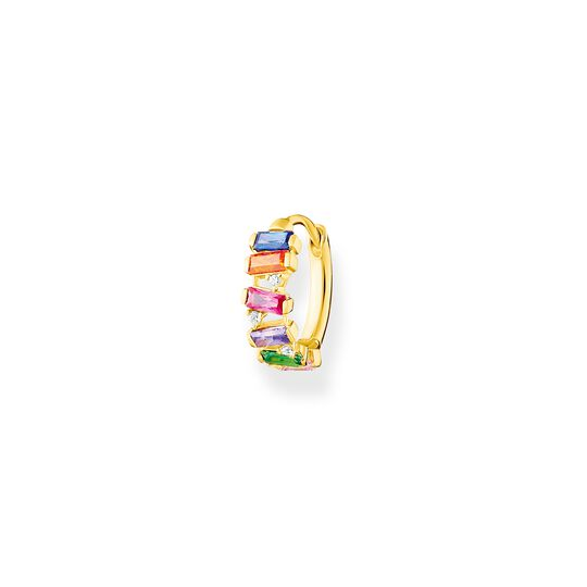 Single hoop earring colourful stones, gold from the Charming Collection collection in the THOMAS SABO online store
