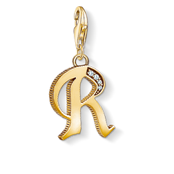 Charm pendant letter R gold from the Charm Club Collection collection in the THOMAS SABO online store