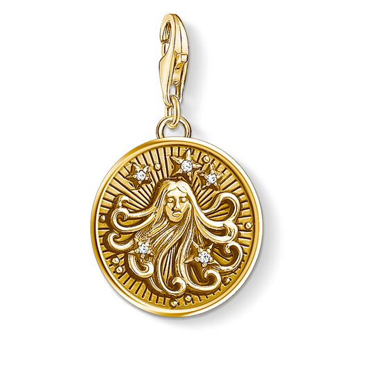 Charm pendant zodiac sign Virgo from the Charm Club collection in the THOMAS SABO online store