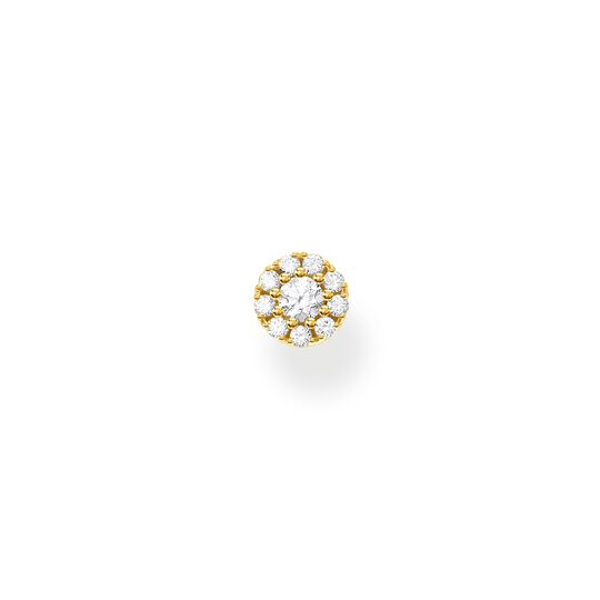 Single ear stud white stones gold from the Charming Collection collection in the THOMAS SABO online store