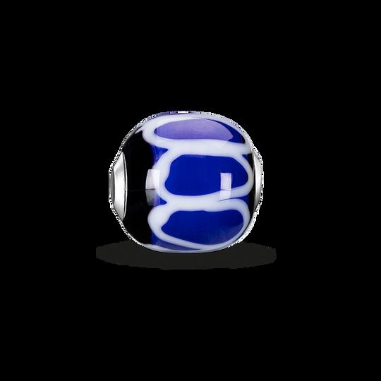 Bead Glas-Bead Blau, Schwarz, Weiß aus der Karma Beads Kollektion im Online Shop von THOMAS SABO