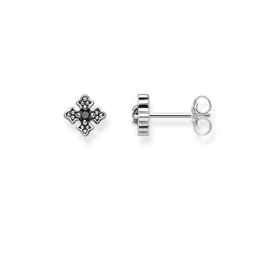 "ear studs ""Royalty Black"" from the Rebel at heart collection in the THOMAS SABO online store"