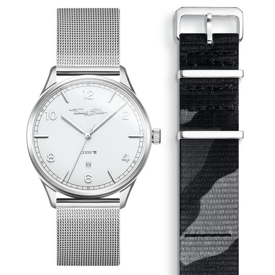 SET CODE TS white watch & camouflage strap from the  collection in the THOMAS SABO online store