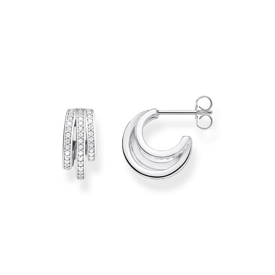 hoop earrings silver rings from the  collection in the THOMAS SABO online store