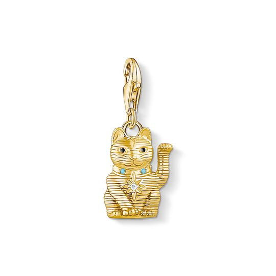 Charm pendant wink cat from the Charm Club collection in the THOMAS SABO online store