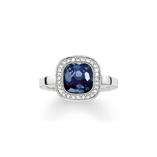 solitaire ring dark blue cosmo from the  collection in the THOMAS SABO online store