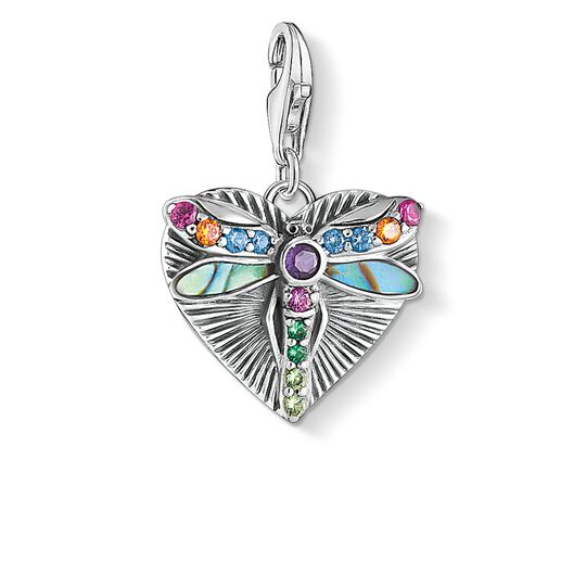 Charm pendant Heart with dragonfly, silver from the Glam & Soul collection in the THOMAS SABO online store