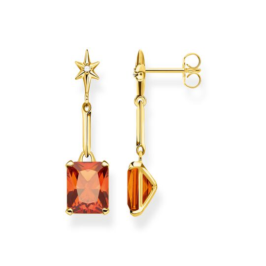Earrings orange stone with star from the  collection in the THOMAS SABO online store