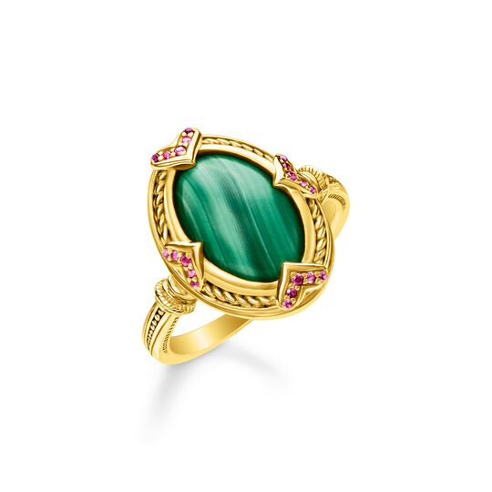Ring green stone gold from the  collection in the THOMAS SABO online store
