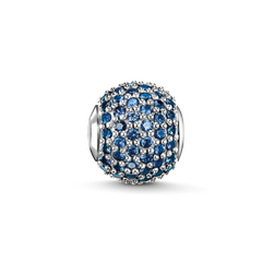 "Bead ""pavé di zaffiri blu"" from the Karma Beads collection in the THOMAS SABO online store"