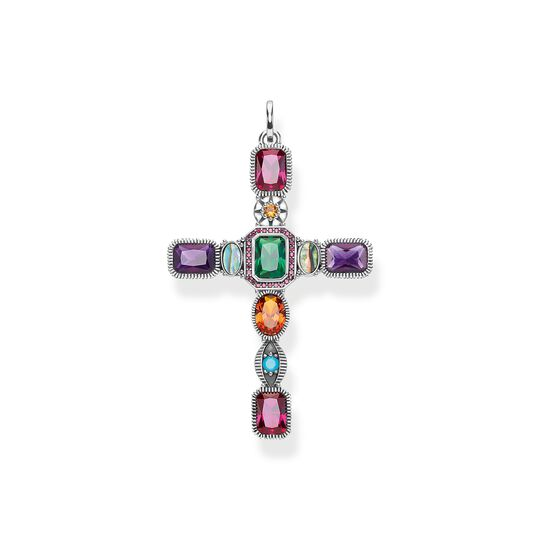 pendant Cross colourful stones from the  collection in the THOMAS SABO online store
