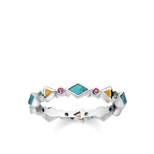 """ring """"Colourful Stones"""" from the Glam & Soul collection in the THOMAS SABO online store"""