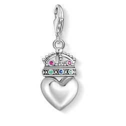 Charm pendant Heart with crown from the Charm Club Collection collection in the THOMAS SABO online store